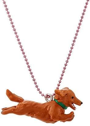 Pop Cutie Running Dog Pendant Necklace