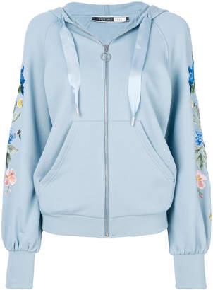 Sportmax Code embroidered zip hoodie