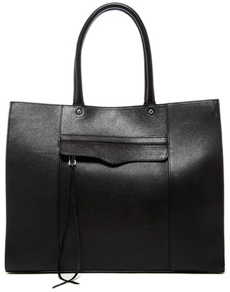 Rebecca Minkoff Large Mab Oil Malaga Leather Tote $295 thestylecure.com