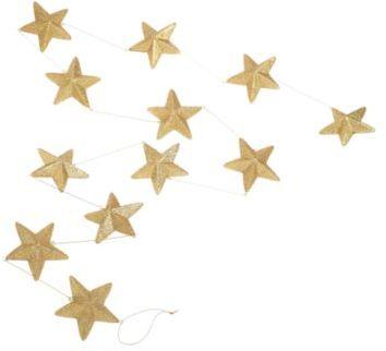 Debenhams Gold star garland decorations