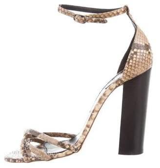 Chloé Python Ankle Strap Sandals