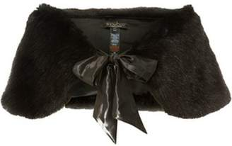 Dorothy Perkins Womens **Showcase Black Faux Fur Shrug