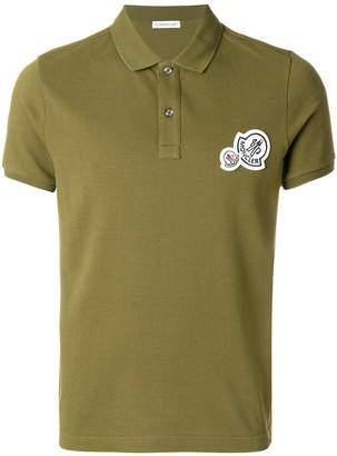 Moncler multi-logo polo shirt