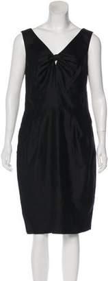Magaschoni Satin Cocktail Dress