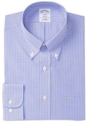Brooks Brothers Plaid Regent Fit Dress Shirt