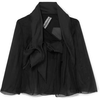 Rick Owens Cropped Silk-organza Jacket - Black