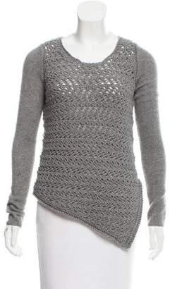 Helmut Lang Wool-Cashmere Asymmetrical Sweater