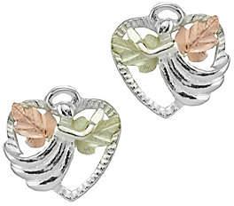 Angel Heart Black Hills Stud Earrings, Sterling/12K Gold