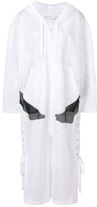 Faith Connexion hooded mesh coat