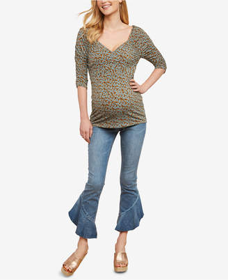 Jessica Simpson Maternity Cropped Flared Jeans