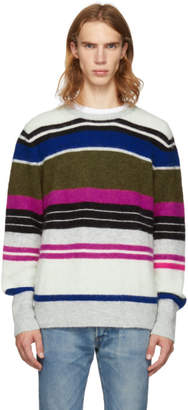 Frame Multicolor Multistripe Fuzzy Sweater