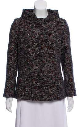 Chanel Tweed Stand Collar Jacket