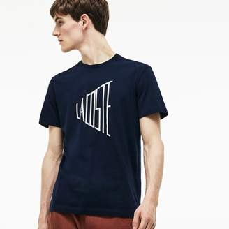 Lacoste Men's Crew Neck Lettering Cotton T-Shirt