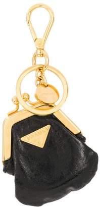Prada mini coin-purse keyring