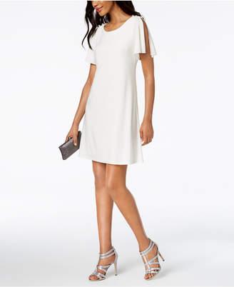 MSK Imitation-Pearl Split-Sleeve Shift Dress