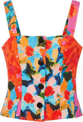 Mara Hoffman Malin Floral-Print Bustier Top