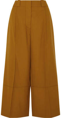 Marni Cropped Wool Wide-leg Pants - Brown