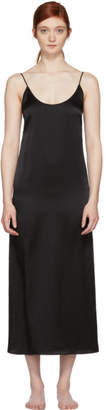 Araks Black Silk Slip Dress