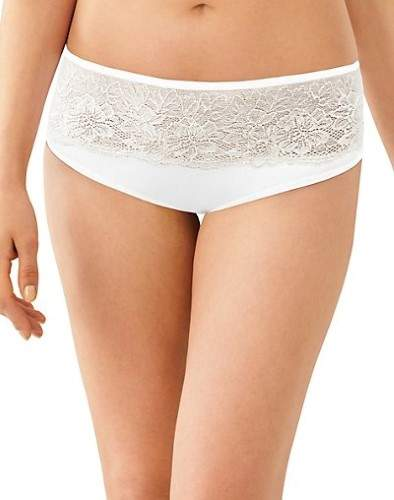 Bali Women's Satin Lace One Smooth U Comfort Indulgence Hipster