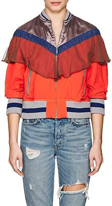 Kolor Women's Mixed-Media Zip-Front Jacket