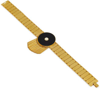 Monica Sordo Lluvia 24K Gold-Plated Fringe Choker