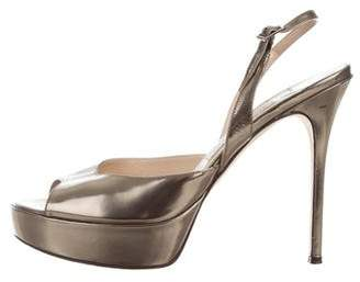 Jimmy Choo Metallic Platform Pumps
