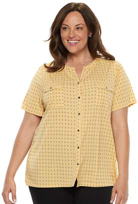 Croft & Barrow Plus Size Print Shirt