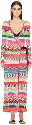 Mary Katrantzou Oceania Dress Fira Stripe Knit Cover-Up Women's Swimwear