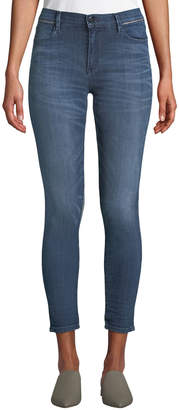 Brockenbow Reina Cropped High-Waist Piped Skinny Jeans