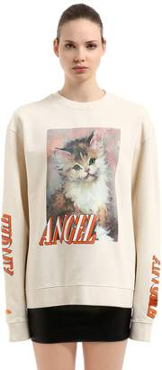 Angel Printed Cotton Sweatshirt