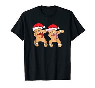 Dabbing Gingerbread Man & Girl tShirt Funny Christmas Dab