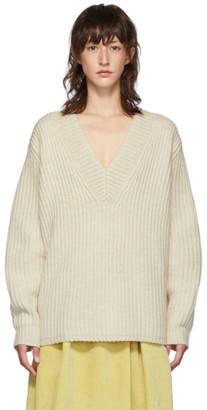 Acne Studios Off-White Keborah V-Neck Sweater