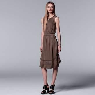 Vera Wang Women's Simply Vera Mixed-Media Dress