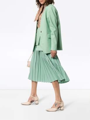 Joseph Barr collarless cotton-blend blazer jacket