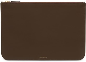 Mansur Gavriel Calf Men's Oversized Attache - Chocolate