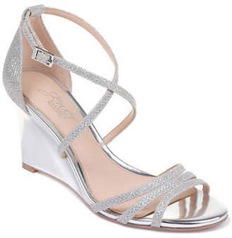 Badgley Mischka Hunt Textured Wedge Sandals
