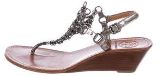 Tory Burch Chain-Link Wedge Sandals
