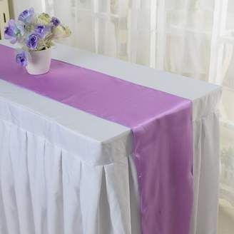 Yosoo YOSOO Table Runner Satin Table Runner Banquet Table RunnerWedding Party Banquet Table Decoration Runner (Purple)