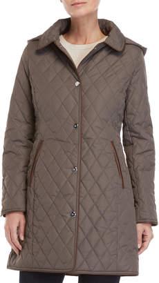 Lauren Ralph Lauren Hooded Diamond Quilted Coat