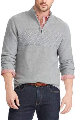 Chaps Men's Regular-Fit Textured Quarter-Zip Pullover