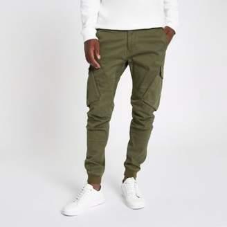 River Island Khaki green tapered cargo pants