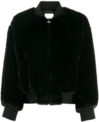 Chiara Ferragni Logomania faux-fur jacket