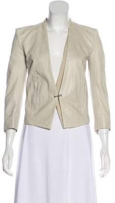 Helmut Lang Leather Long Sleeve Jacket