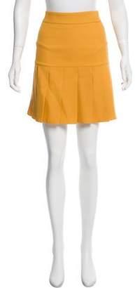 Gucci Silk Pleated Skirt