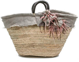 Roberta Gandolfi Belle Large Straw Romantic Basket Bag