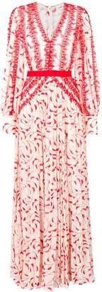 Self-Portrait crescent print maxi dress