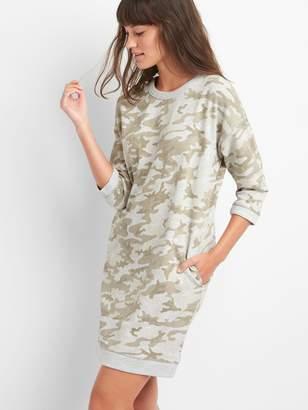 Gap Camo three-quarter sleeve dress