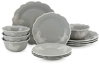 Lenox 12-Piece Butterfly Meadow Carved Dinnerware Set