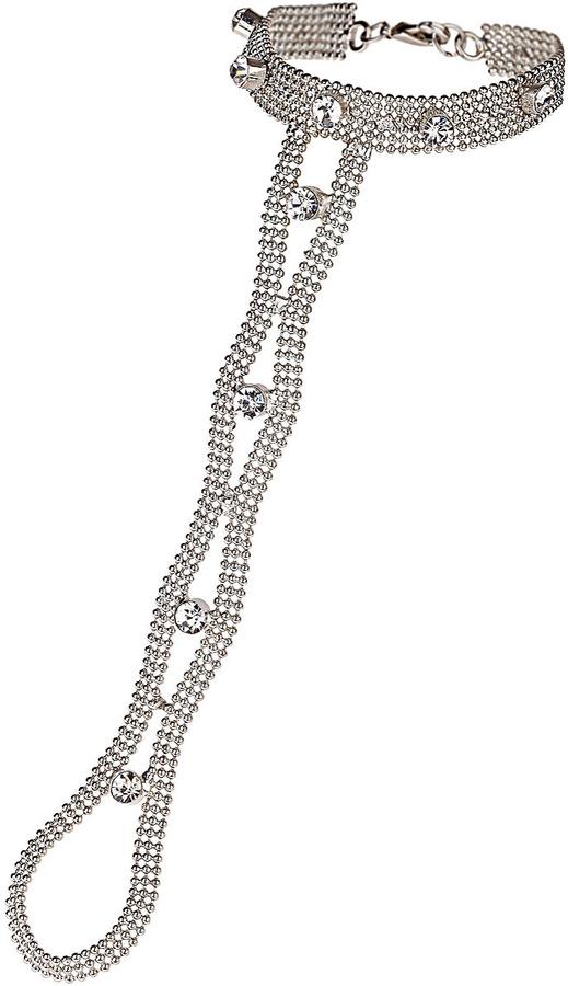 Topshop Curve Stone Hand Chain