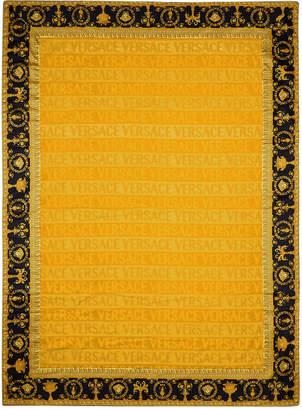6a2a0ce6c Versace Barocco & Robe Beach Towel - Gold/Black